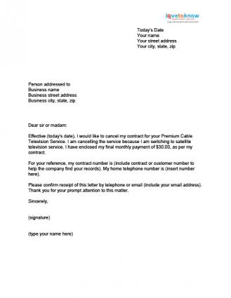 13 sample cancellation letters sample letters word cancellation letter 0000 spiritdancerdesigns Images