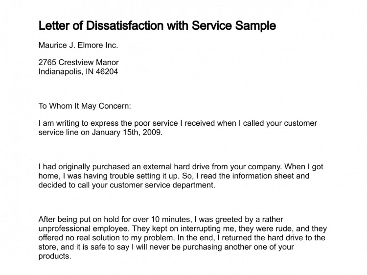 how to write a customer complaint letter sample complaint letter