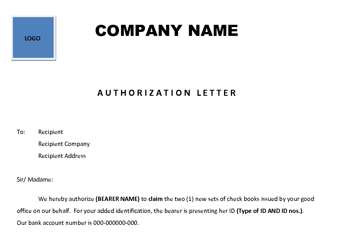 14 sample authorization letters sample letters word authorization letter 101 download now spiritdancerdesigns Image collections