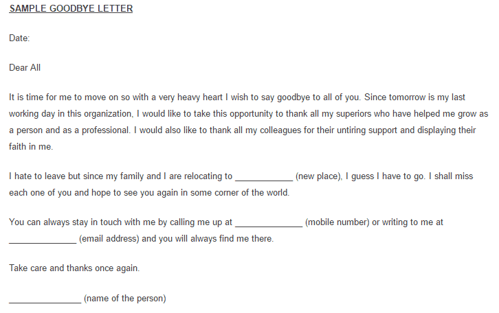 goodbye letter 50 download now