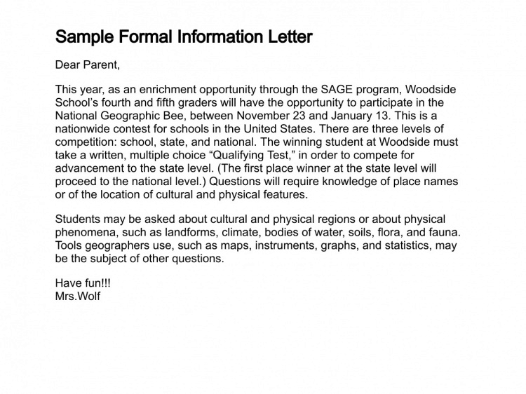 Letter To Request Information From A College