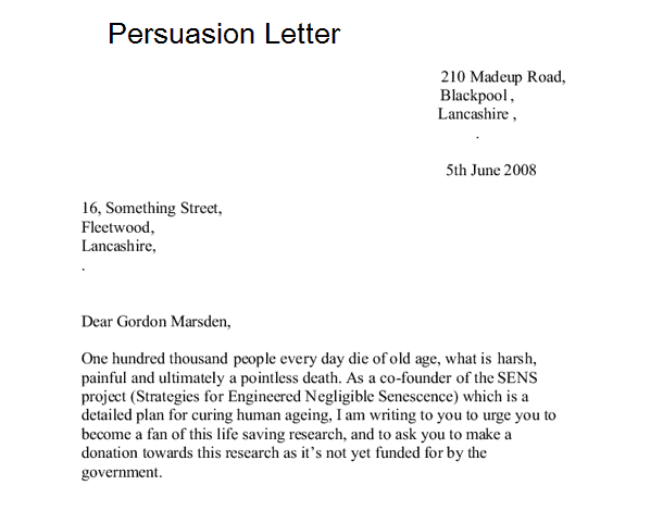 7 Sample Persuasion Letters Sample Letters Word – Requisition Letter Samples