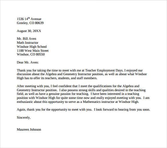 Letter To School Principal Praising Teacher