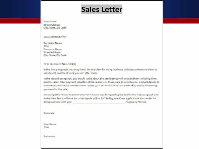 10 sample sales letters sample letters word sales letter format altavistaventures Image collections