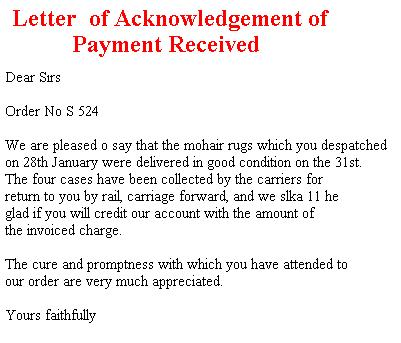 12+ Sample Acknowledgement Letters - Writing Letters Formats & Examples