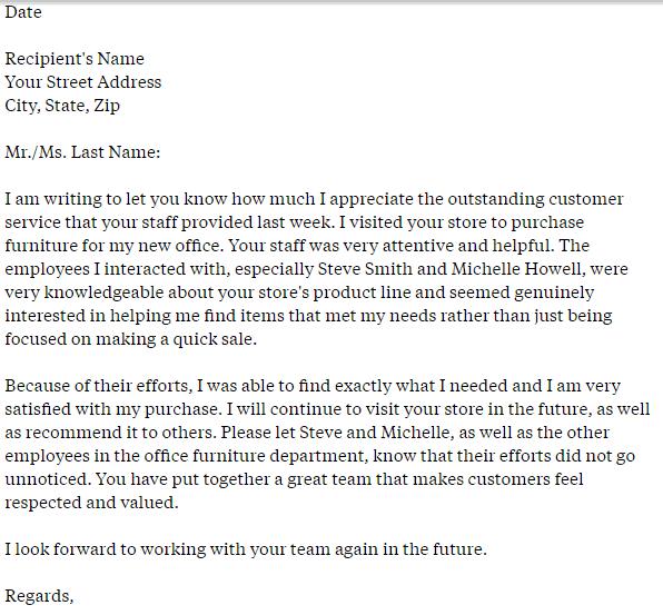 Admiration Letter 30
