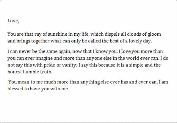 Admiration Letter 70