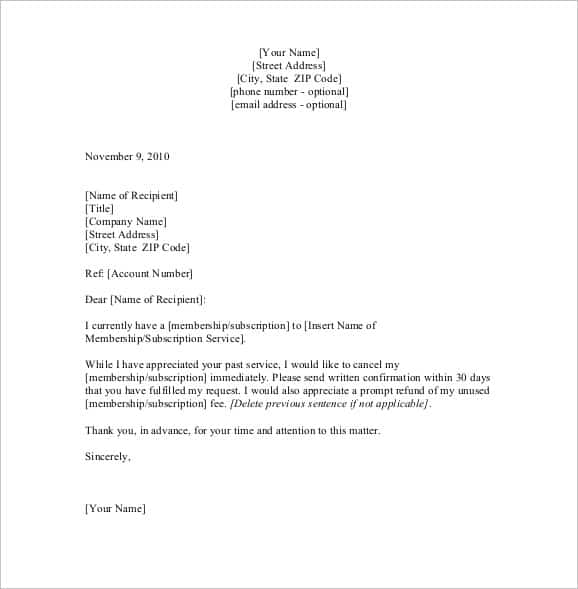 Real Estate Contract Cancellation Letter from www.sampleletterword.com