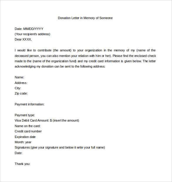 Fundraising Letter 20