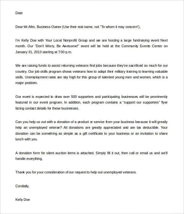 Fundraising Letter 30