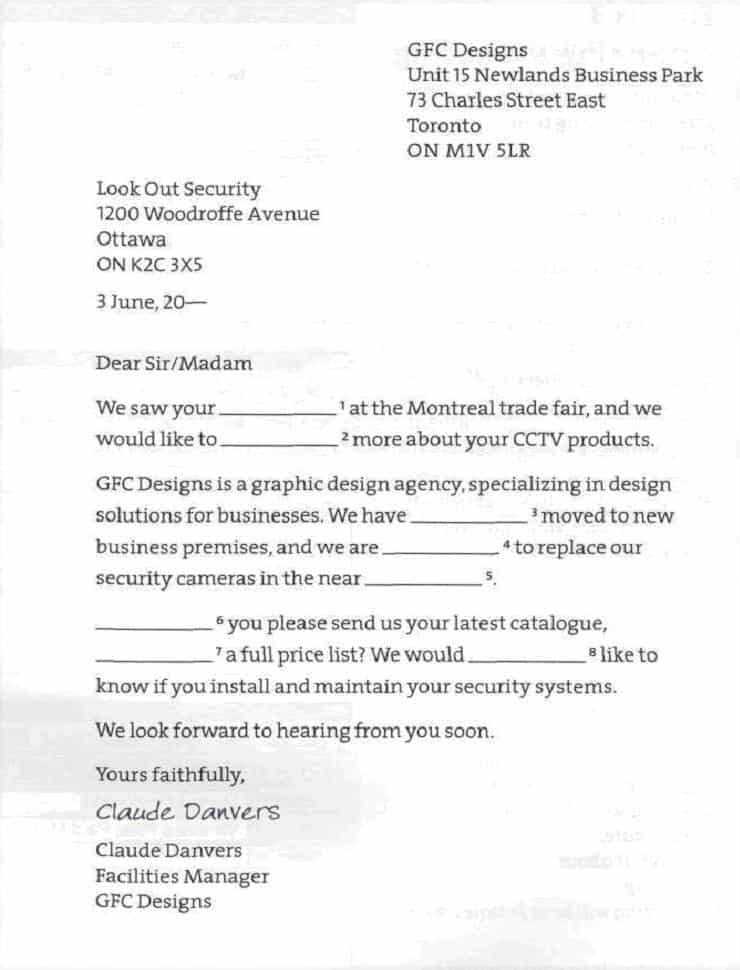 Inquiry Letter 50