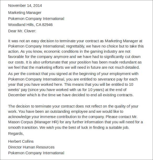 Letters Of Dismissal 20
