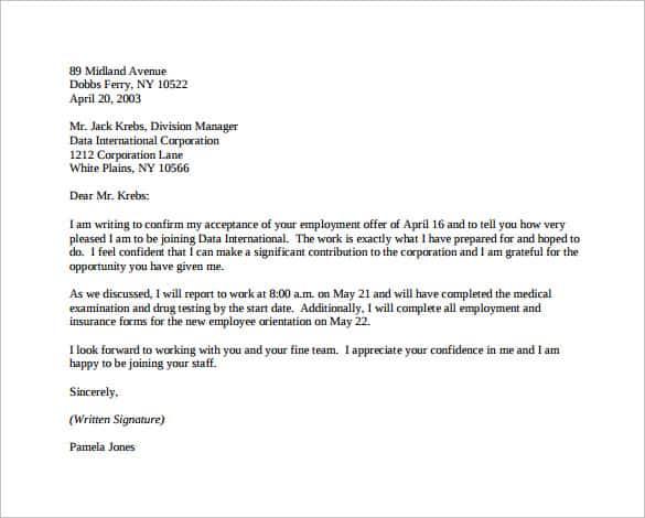 acceptance letter 104