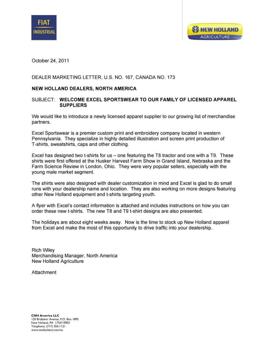 announcement letter 10