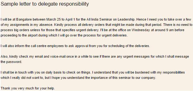 delegation Letter 30