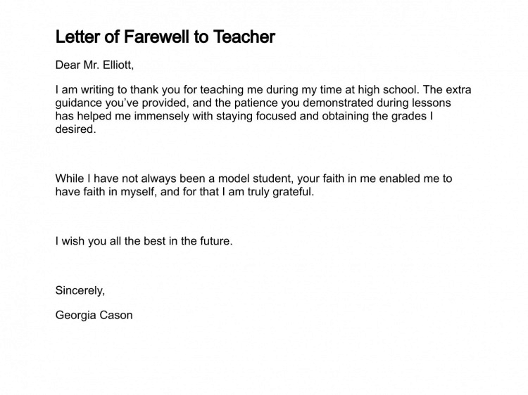 12 Sample Farewell Letters Writing Letters Formats Examples