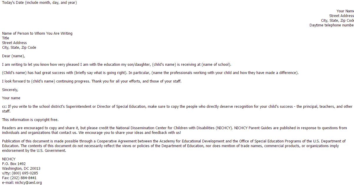 feedback letter 30