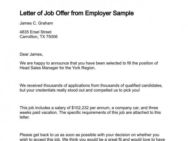 Sales Offer Letter Template from www.sampleletterword.com