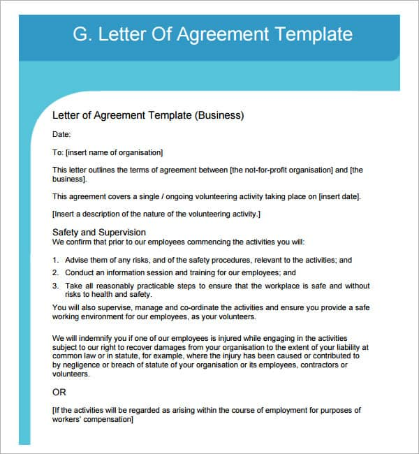 15 letter words 15 sample letters of agreement sample letters word 20012 | letter of agreement 30