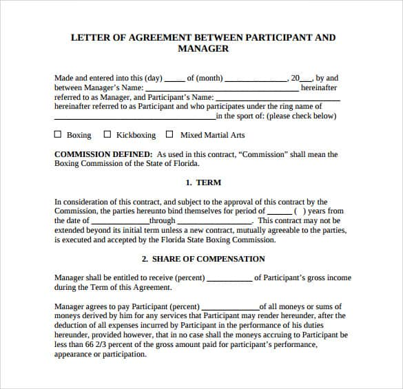 letter of agreement 80