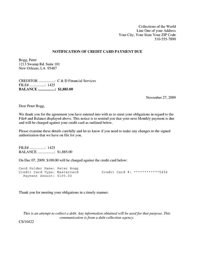 notification letter 30