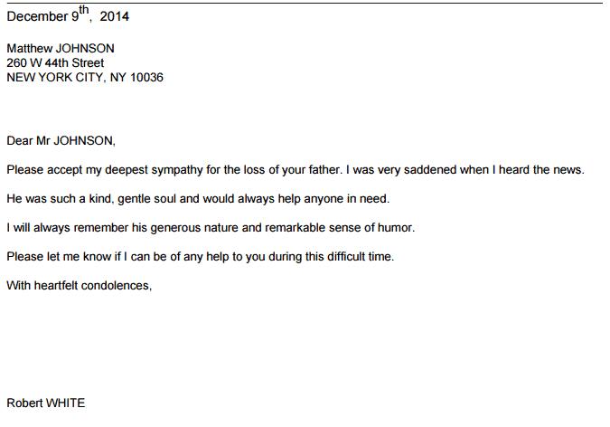 Letter Of Sympathy  005