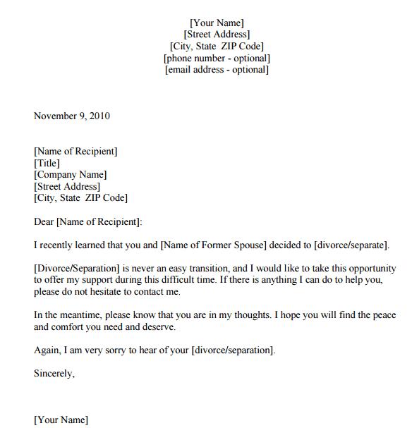 Letter Of Sympathy  006