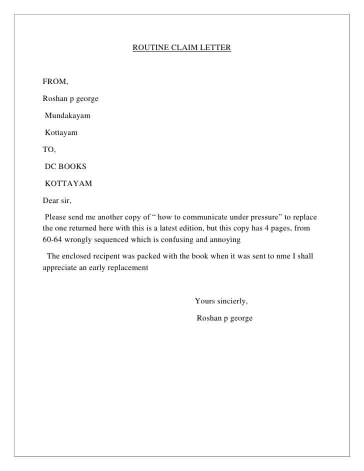 Formal Demand Letter Sample from www.sampleletterword.com