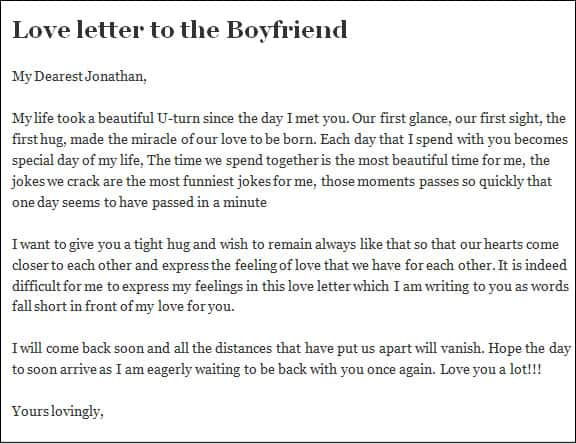 how to write a love letter to a girlfriend