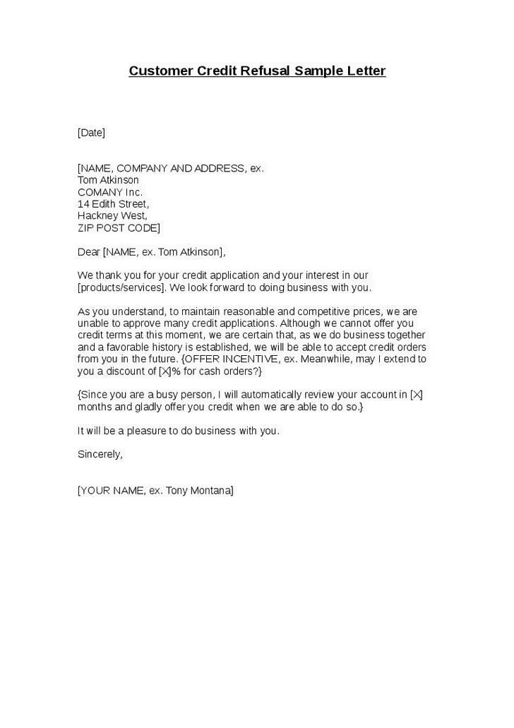 refusal letter sample 001