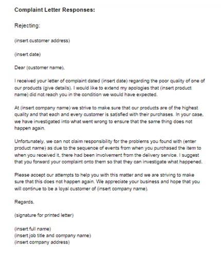 response letter sample 001