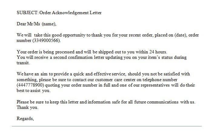 response letter sample 005