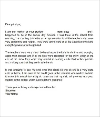 Appreciation-Letter-By-Teacher-GG Teacher Donation Letter Template on municipality thank you, sample memorial, basket raffle,