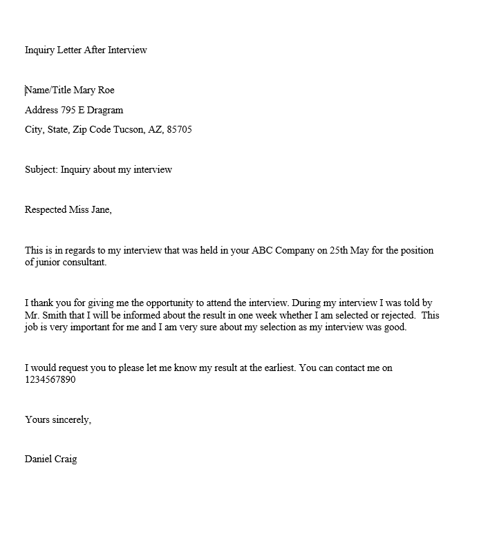 Cover Letter For Inquiring About Job Opportunities from www.sampleletterword.com